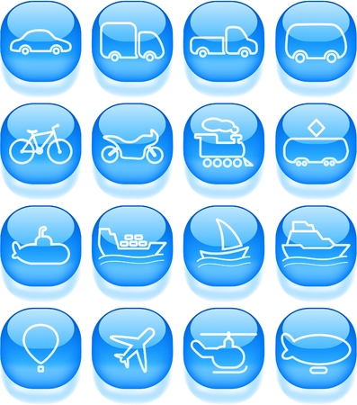 Travel and transportation vector icons Zdjęcie Seryjne - 5169836