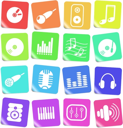 Music and audio vector icons Stock Vector - 5169825
