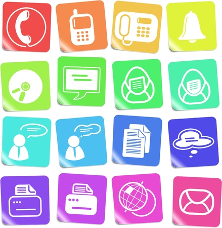 Miscellaneous office and communication vector icons Vector