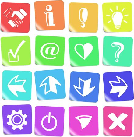 miscellaneous: Miscellaneous signs vector iconset Illustration