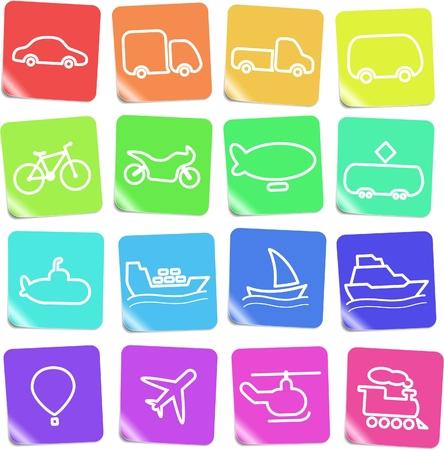 Travel and transportation vector icons Zdjęcie Seryjne - 5169828