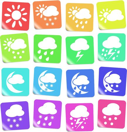 Weather vector iconset Stock Vector - 5169824