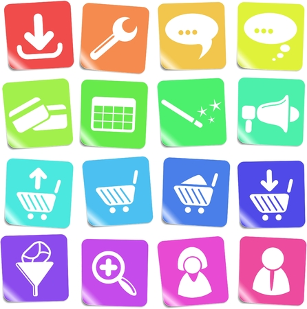 Website vector iconset Stock Vector - 5169812
