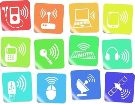 communicatie: Draadloze communicatie vector iconset