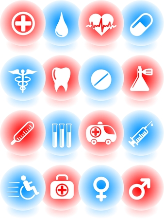 Medical and health care vector icons Stock Vector - 5169798