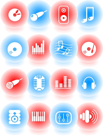 Music and audio vector icons Stock Vector - 5169822