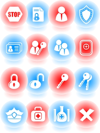 Security and antivirus vector icons Stock Vector - 5169821