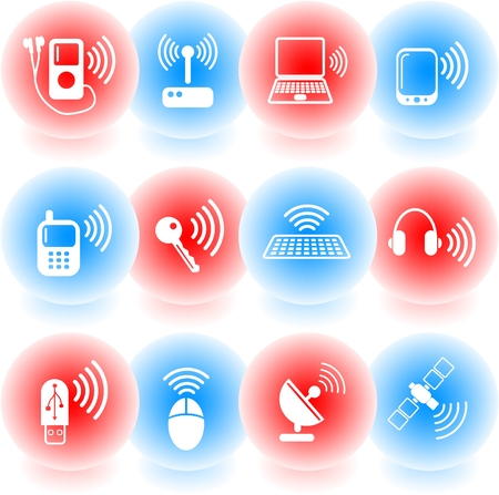 Wireless communications vector iconset Stock Vector - 5169792