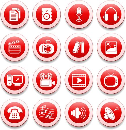 Miscellaneous multimedia vector icons Ilustracja