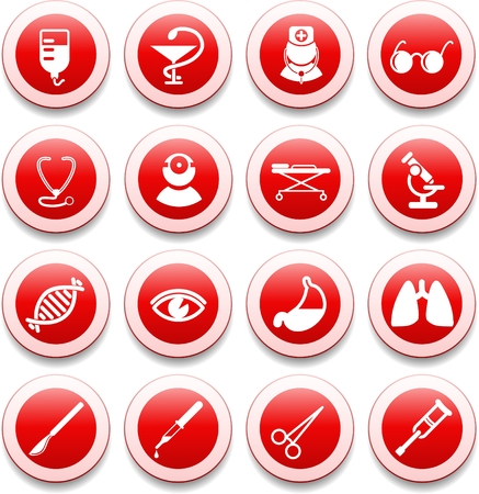 Medical and health care vector icons, part 2 Stock Vector - 5585540