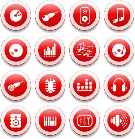 Music and audio vector icons Stock Vector - 5585544