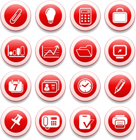Miscellaneous office vector icons Ilustracja