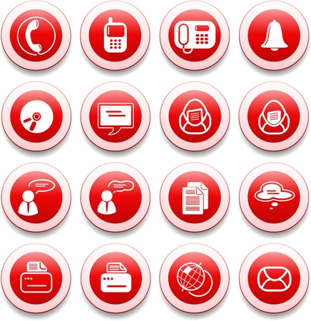 Miscellaneous office and communication vector icons Stock Vector - 5585545
