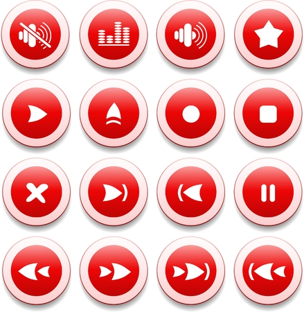 Media player vector iconset