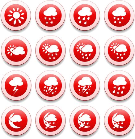 Weather vector iconset Stock Vector - 5625310