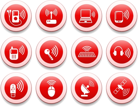 Wireless communications vector iconset Stock Vector - 5625304