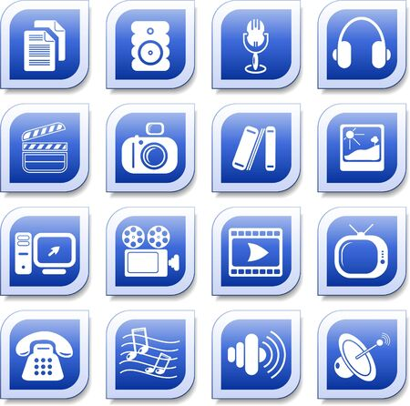 Miscellaneous multimedia vector icons Stock Vector - 5625312