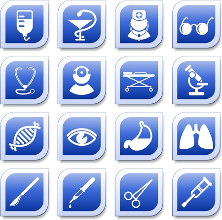 Medical and health care vector icons, part 2 Zdjęcie Seryjne - 5640935