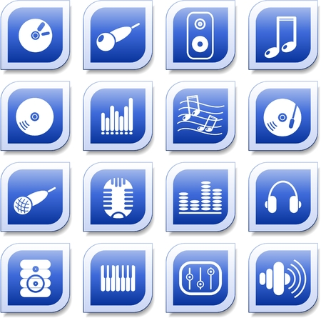 Music and audio vector icons Stock Vector - 5640936