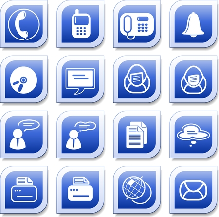 fax icon: Miscellaneous office and communication vector icons