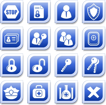 Security and antivirus vector icons Stock Vector - 5640933