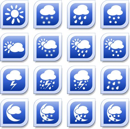 Weather vector iconset Ilustracja