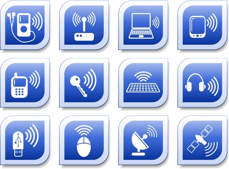 Wireless communications vector iconset Stock Vector - 5640926