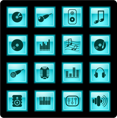 Music and audio icons Stock Vector - 5665658
