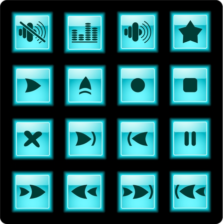 Media player iconset