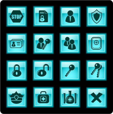 Security and antivirus icons