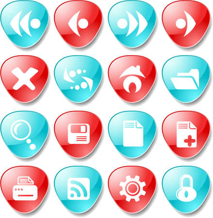 Browser icons Ilustracja