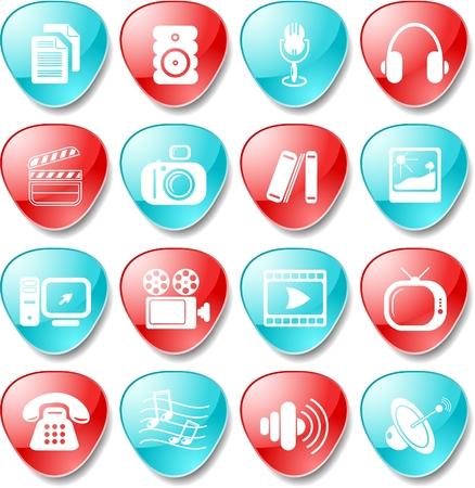 Miscellaneous multimedia icons Stock Vector - 5665629