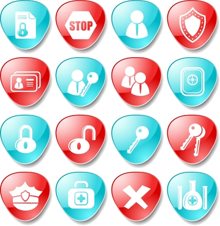 an antivirus: Security and antivirus vector icons
