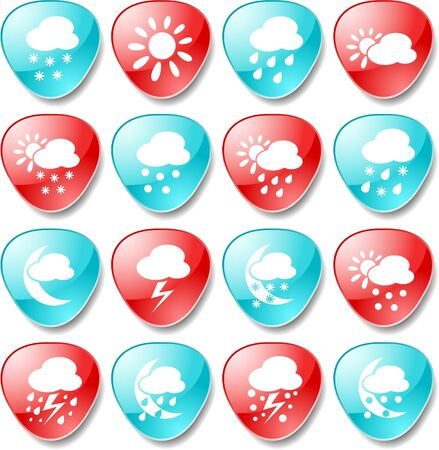 Weather vector iconset Stock Vector - 5690101
