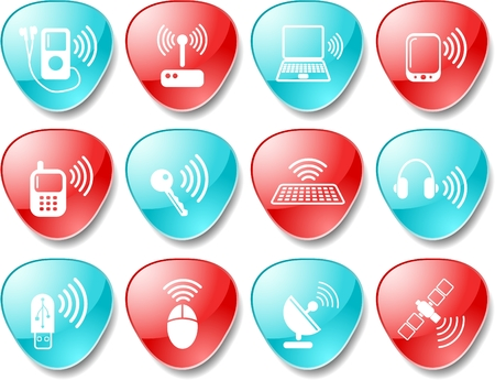 Wireless communications vector iconset Stock Vector - 5690093