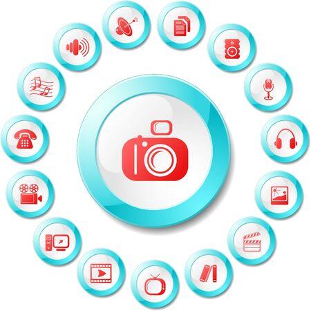 Miscellaneous multimedia vector icons Stock Vector - 5690107