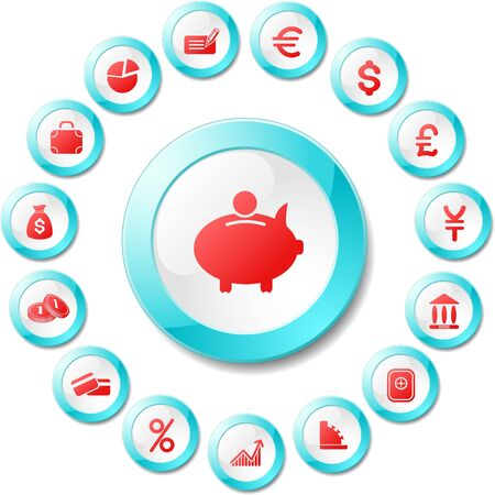 Money vector iconset Stock Vector - 5705631