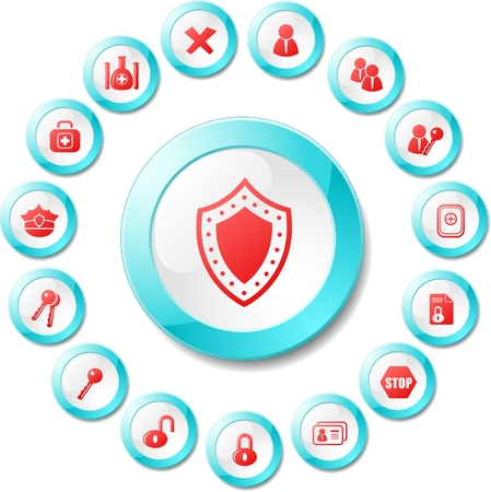 Security and antivirus vector icons Stock Vector - 5705629
