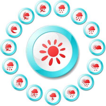 Weather vector iconset Vector