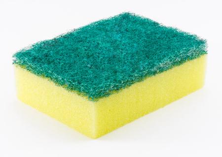 dishwashing: Dishwashing Sponge on White Background