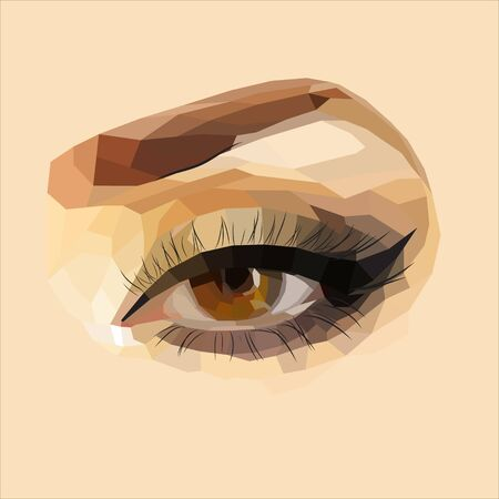 Vector eyes, female eye makeup