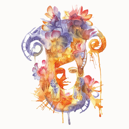 abstract illustration of a girl