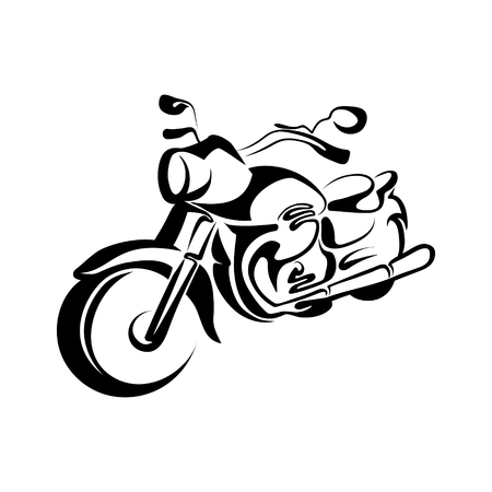 A stylized motorcycle design Çizim