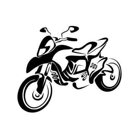 motobike: stylized motorcycle