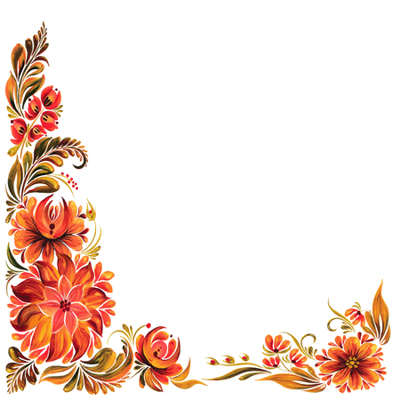 fall fashion: folk ornament Stock Photo