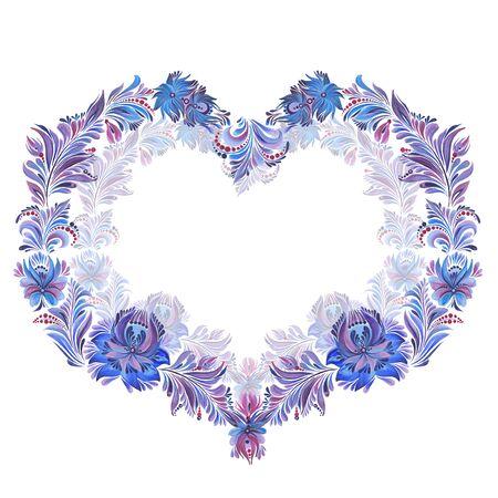 blue  frame  in folk style