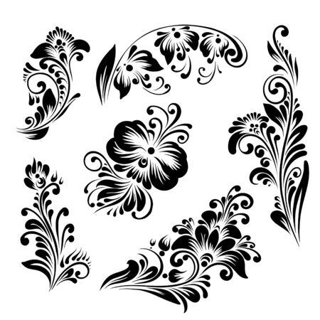 ethnic style flowers Illustration