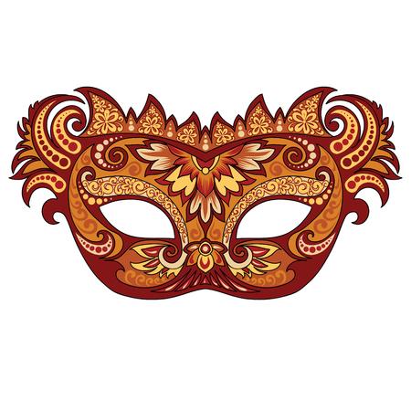 Festive golden mask Çizim