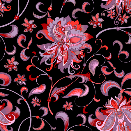 Red flower pattern image design illustration