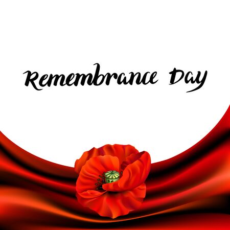 Remembrance Day greeting card Illustration